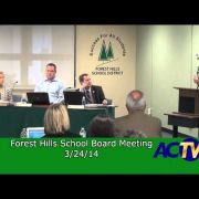 Forest Hills School Board Meeting 3/24/14