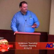 Anderson Township Trustees Meeting 4-16-15