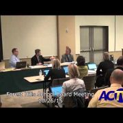 Forest Hills School Board Meeting 10/26/15